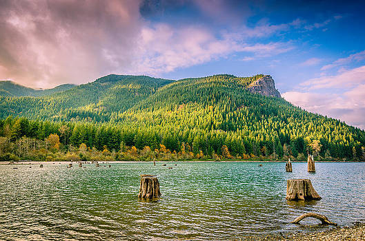 The Ledge Above the Lake by Brian Xavier