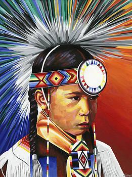 The Little Powwow Dancer by Tyrone Whitehawk
