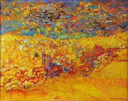 Brenda Brin Booker - The Little Red Church Oil On Canvas