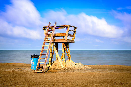 The Lonely Lifeguard Stand by Anthony Morganti