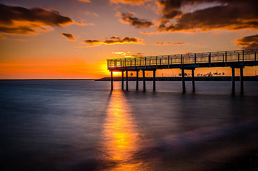 The Lonely Pier at Sunset by Anthony Morganti