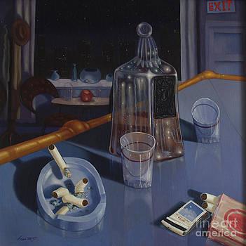 Larry Preston - THE LOUNGE 1992   Skewed perspective series 1991 - 2000