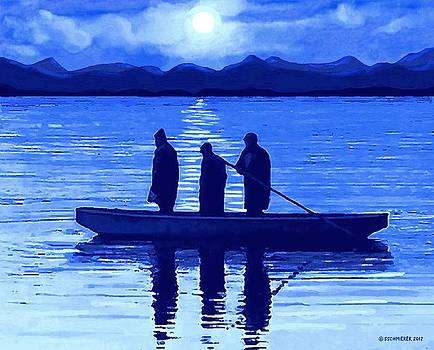 The Night Fishermen by SophiaArt Gallery