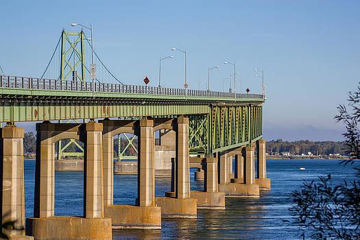 The Ogdensburg Prescott International Bridge by Laurel Butkins