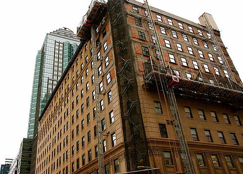 The old and the new building by Jocelyne Choquette