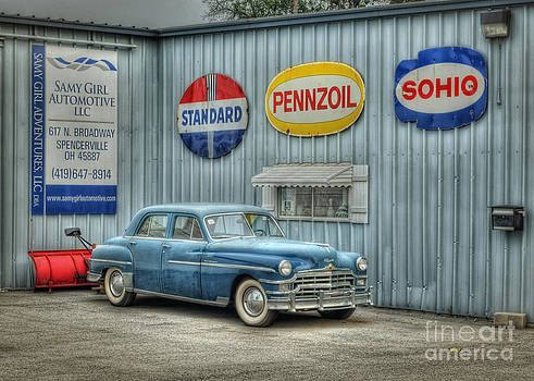 The Old Blue Chrysler by Pamela Baker