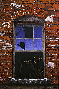 The Old Brick Mill Window by Peter Muzyka