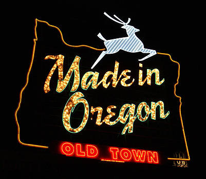 The Original Made in Oregon Sign by DerekTXFactor Creative