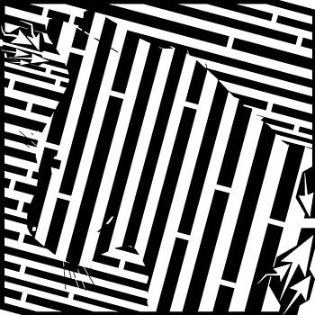 The Patient Hunting Cat Maze by Yonatan Frimer Maze Artist