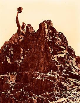 The Photographer on Pinnacle Peak early 1900 era by Eddie Eastwood