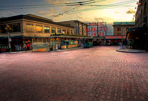 The Pike Place Market by Anthony J Wright