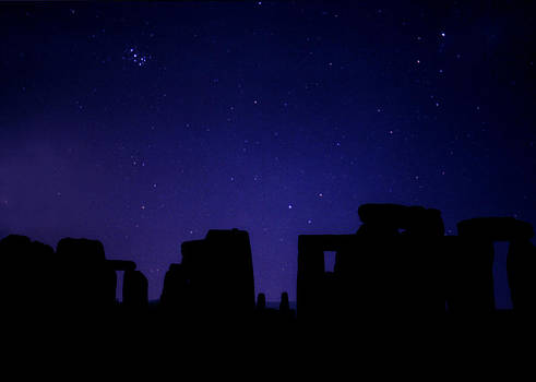 The Pleiades Over Stonehenge by Laurie Larson