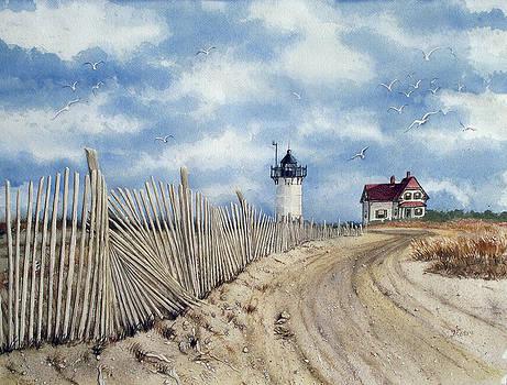 The Pole Line to Race Point Light by Jennifer  Creech