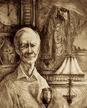 The Portrait of Retired Military Man by Olusha Permiakoff