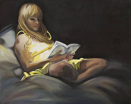 The Reading Girl by Caroline  Stuhr