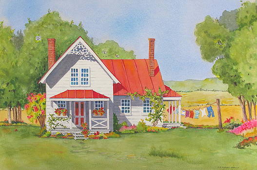 The Red Roof by Mary Ellen Mueller Legault