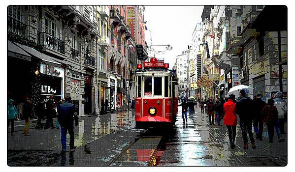 The red tram by Rumiana Nikolova