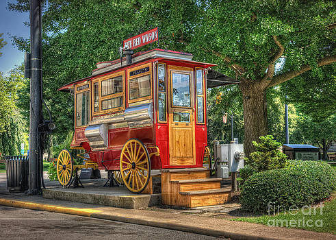 The Red Wagon of Sandusky Ohio by Pamela Baker