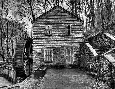 The Rice Gristmill Hdr BW by Douglas Stucky