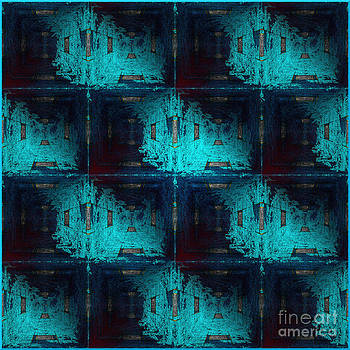 The Abstract Rooms in Blue by Gillian Owen