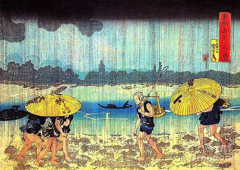 REPRODUCTION - The shore of the Sumida river