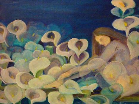 The Siren And The Calla Lilies by Margaret Pirrouette