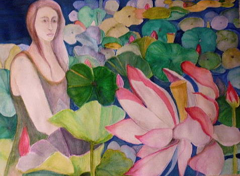 The siren and the waterlilies by Margaret Pirrouette