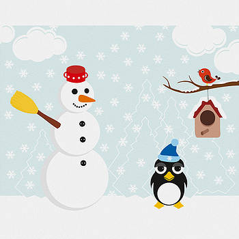 The snowman and the penguin by Cosmin Bicu