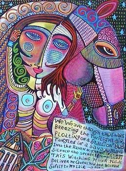 The Stallion and Ghost Goddess by Sandra Silberzweig