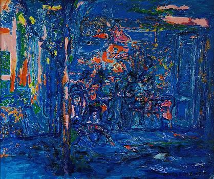 Brenda Brin Booker - The Street Cafe Oil On Canvas