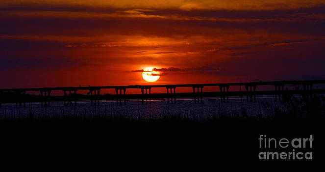 The Sunset Over the Bridge by Debbie Morris