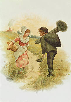 Anonymous - The Sweep And The Milkmaid Book Illustration