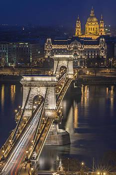 The Szechenyi Chain Bridge in Budapest by Ayhan Altun