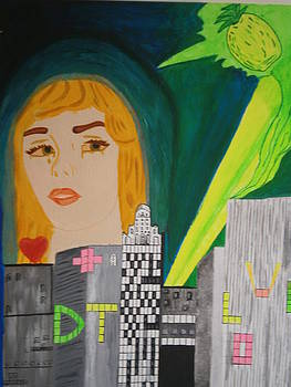 The Tailed Flower the city and the Kiwi by Tania  Katzouraki