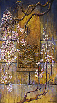 The temple's wall by Vrindavan Das