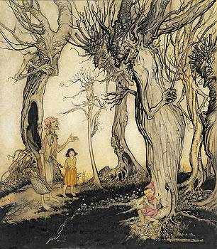Arthur Rackham - The Trees And The Axe, From Aesops
