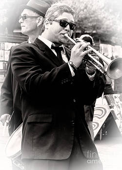 Kathleen K Parker - The Trumpet Player NOLA - Sepia