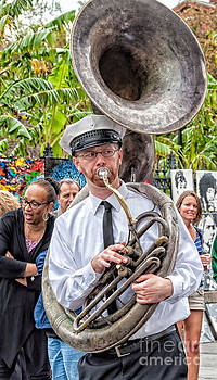Kathleen K Parker - The Tuba Player - Jackson Square