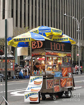 The Ubiquitous NYC Food Cart by Louise Peardon