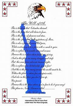 The USA Statue Of Liberty Poetic Art Poster by Stanley Mathis