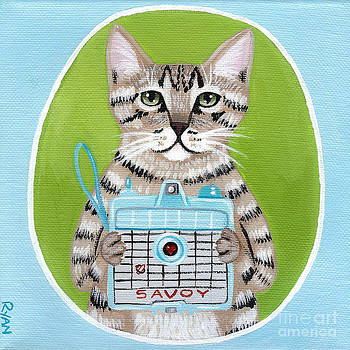 The Vintage Camera Cat by Ryan Conners