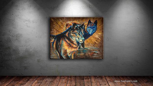 Teshia Art - The Watchers - Display Image