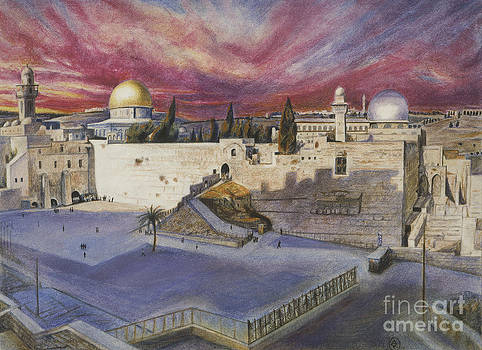 The Western Wall by Yael Avi-Yonah