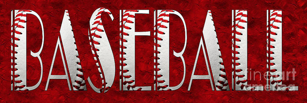 Andee Design - The Word Is BASEBALL On Red