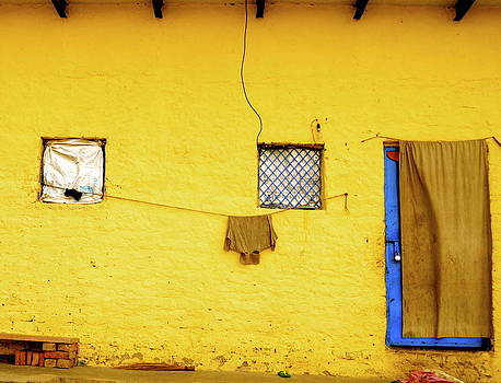 The yellow wall by Mona Singh