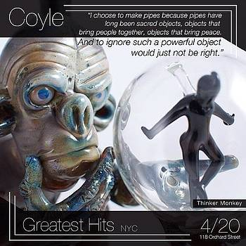 There Is A Pipe Show In Nyc On 4/20! by Coyle Glass