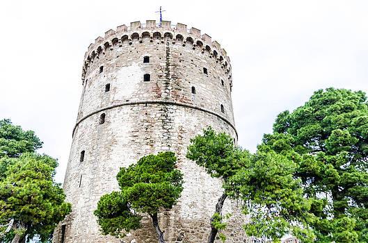 Thessaloniki Tower. by Slavica Koceva