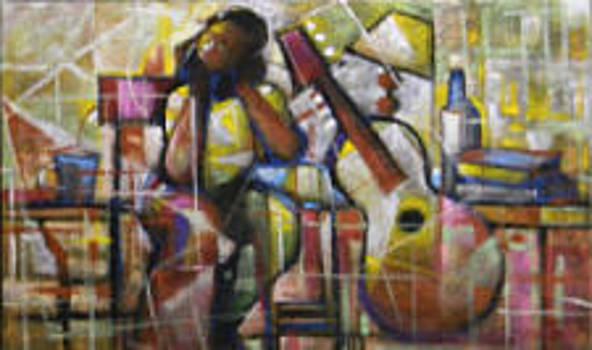 Thinking Musician by Buchi Upjohn