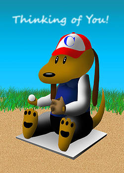 Jeanette K - Thinking of You Baseball Dog