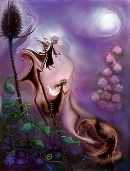 Thistle Fairies by Moonlight by Terry Webb Harshman